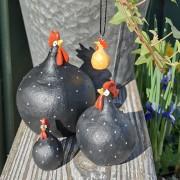 Höna från Nääsgränsgården svart och orange