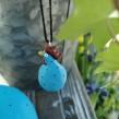 Höna från Nääsgränsgården blå - Höna hänge blå h 4 cm