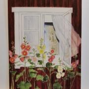 Vikt kort i akvarell med surprise