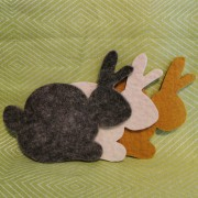 Tovade grytunderlägg - Kaninform