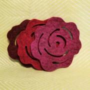 Tovade grytunderlägg - rosor