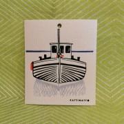 Komposterbar disktrase båt motiv