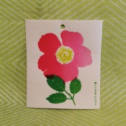 Komposterbar disktrase rosa blomma