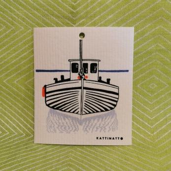 Komposterbar disktrase båt motiv - Disktrase båt