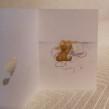 Vikt kort i akvarell med surprise Nalle