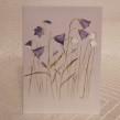 Vikt kort i akvarell med surprise Blåklockor - Vikt akvarellkort med kuvert