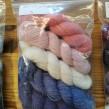Veckans 5-pack unika färger garn 50% angora / 50% merino - 5-pack nr 3 20-27 juni