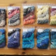Veckans 5-pack unika färger garn 50% angora / 50% merino 11-18 juli