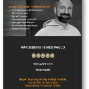 Digitalt presentkort 4 veckor - 15 med Paolo