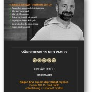 Digitalt presentkort 1 månad - 15 med Paolo