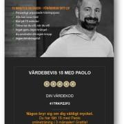 Digitalt presentkort 3 månader - 15 med Paolo
