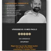Digitalt presentkort 6 månader - 15 med Paolo