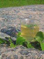 Te av björkblad