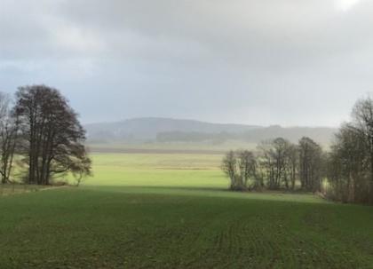 Nedanför Steninge kyrka mot harplinge. Naturliga färger 20 januari 2019, ak