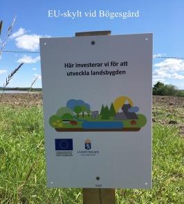EU-skylt vid Bögesgård 2019-07-06