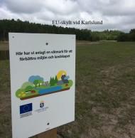 EU-skylt vid Karlslund 2019-07-09