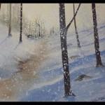 Frozen Path, Oil, Sold