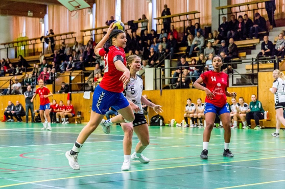 Malin Andersson kunde anteckna sig för två mål i protokollet. Foto: Matthew Tipple.