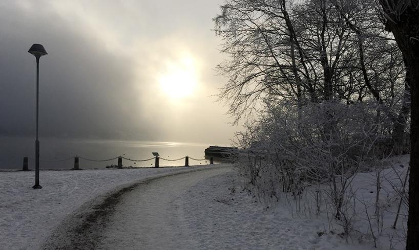 Sjörök vid Brevik. Foto: Johan Ahlbom.