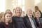 Stolta och glada anhöriga! Fr v från v dottern Stina, hustrun Carina, Magnus pappa Per samt syster Ulrika.