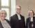 Fr v kyrkorådets ordförande Solveig Fröberg, Magnus Östling och Eva Brunne