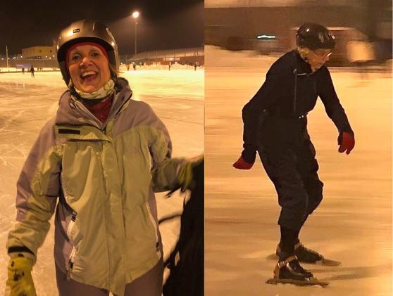 Marianne Gustavsson glad femma i Ladies Äldre och Anna Lamm i klassen Ladies Äldre Veteraner (80 år och äldre), tvåa efter Barbro Klintmark.