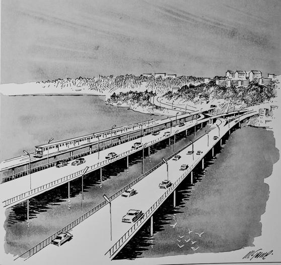 I Regionplan -66 och Generalplan för Lidingö 1966 föreslås två nya bilbroar och en tunnelbanebro till Lidingö. Den ena bron skulle vara avsedd för Bogesundstrafik, medan den andra var avsedd för Lidingötrafik.
