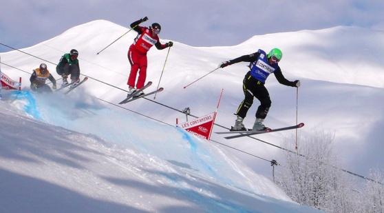 Skicross. Bild från Wikipedia.