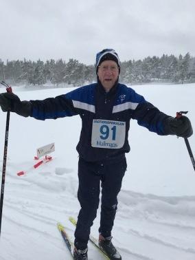 Äldst var K-G Jansson, 93 år fyllda. Hur många klarar att klaraav en skidtävling i den åldern?