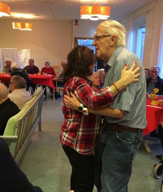 Maria och Nils i en varm tango.
