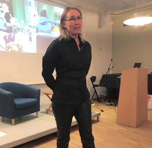 Ulrika Stigberg i S.ta Annagården föreläste i kyrkans regi.
