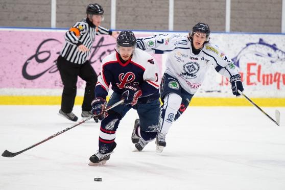 Kom och heja på Lidingö Vikings på torsdag. Här bild från matchen mot Spånga. Foto: Jonas von Hofsten.