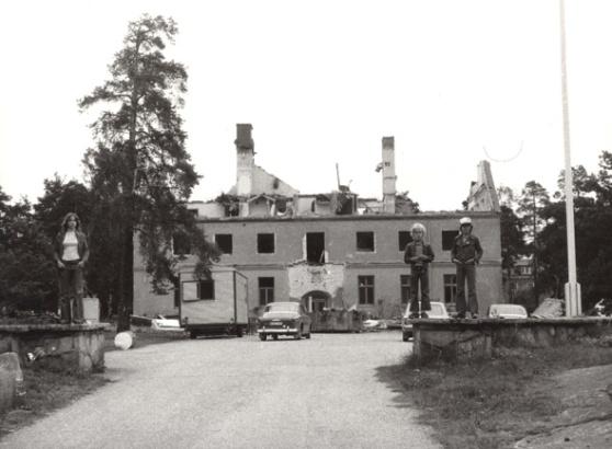 Det gamla stadshuset rivs år 1972. Foto: Sten Schüssler