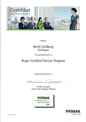 Bertil Lindberg har genomfört Roger Certified Partner Program. Kontakta Bertil för information och för att prova utrustning på din arbetsplats.