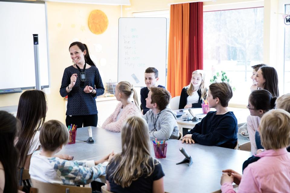 Errarps skola, Ängelholms kommun. Bild från Phonak AB.