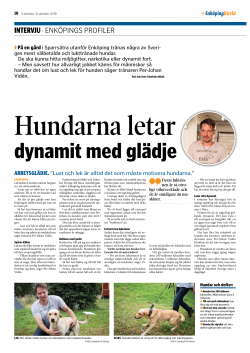 Reportage Enköping Direkt - Explosivhund Miljö & Säkerhet Sverige AB