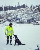 Kvalitetskontroll Explosivhund