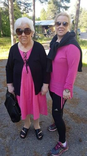 Johanna Partanen och hennes Mamma