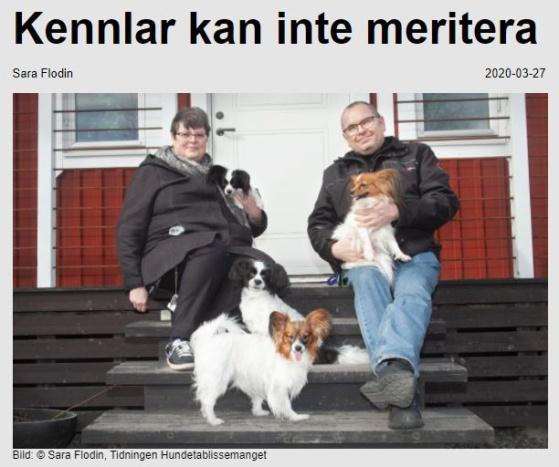 Reportage i nättidningen Hundetablissimanget.