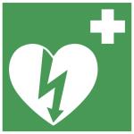 Nödskylt för hjärtstartare