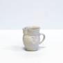 Hjärtansfröjd -  liten kanna - Handdrejad liten kanna i keramik. Dekor hjärta
