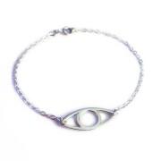 Eye armband, handgjort i silver.