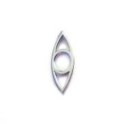 Eye hänge mini, handgjort i silver
