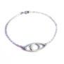 Eye armband, handgjort i silver. - 22 cm