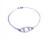 Eye armband silver