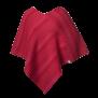 Ullponcho röd/rosa