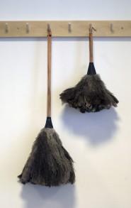 Dammvippa i strutsfjädrar - Dammvippa stor 70 cm