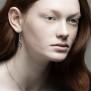 Eye örhängen, handgjort i silver.