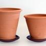 Terracottakrukor med fat - rak modell