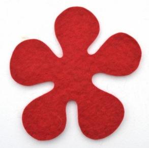 Grytunderlägg - blomma - Röd